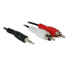 KABEL STEREO 3.5MM M->2X M RCA, 1.8M